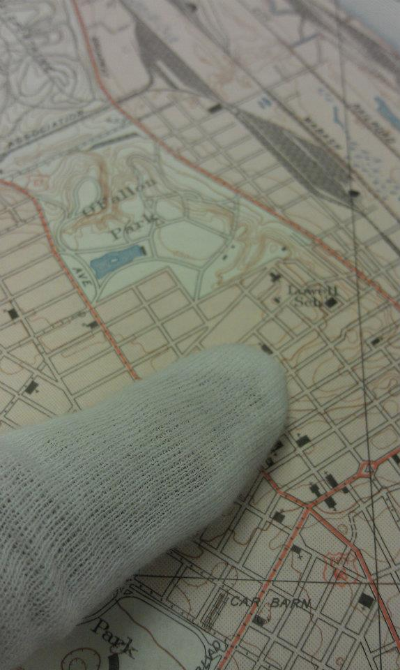 Finding the location on a topographical map
