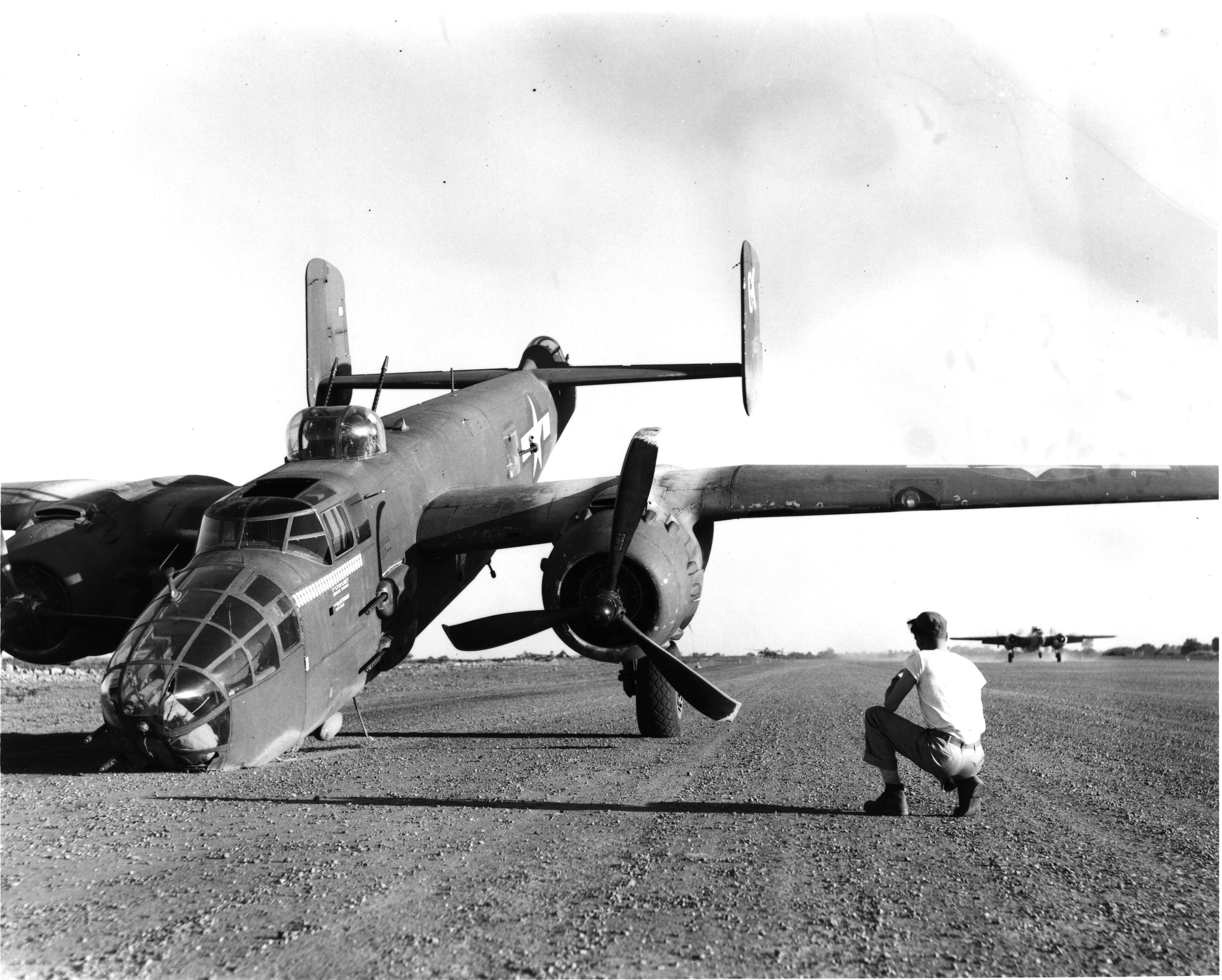 Nose_down_B-25