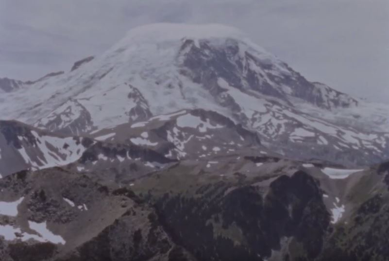 "Mount Rainier in the 1967 film ""What is a Mountain?"""