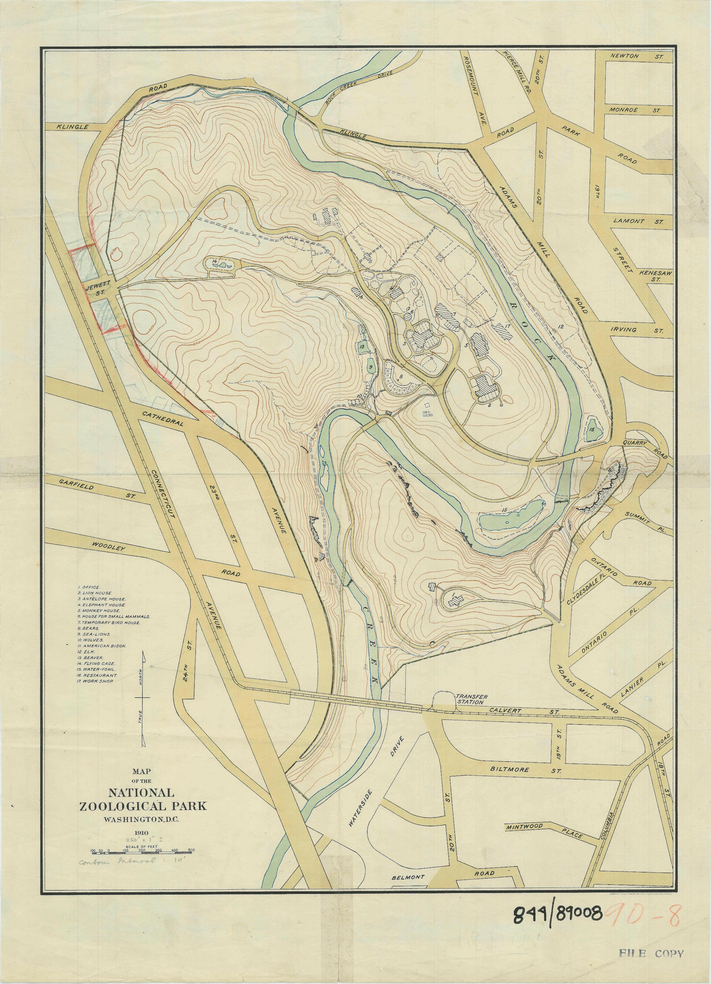 RG 79, National Capital Parks Numbered Drawings, 844-89008