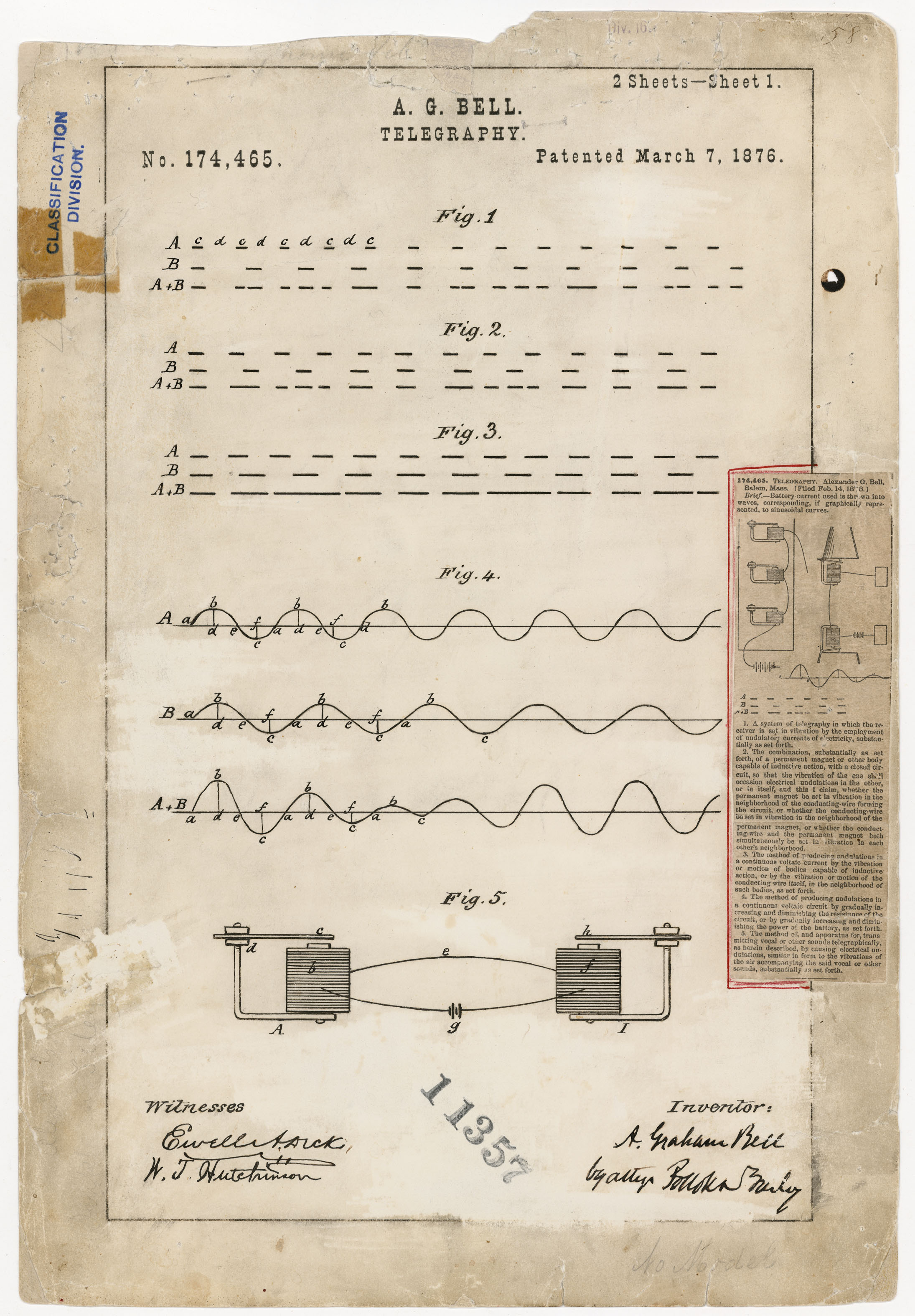 Patent Number 174, 465Alexander Graham Bell Record Group