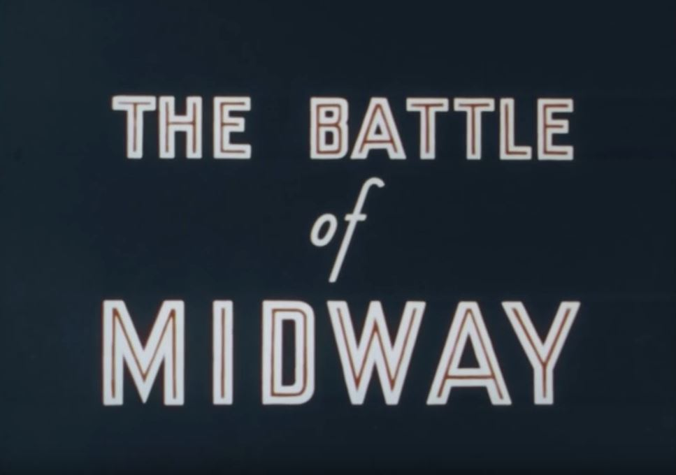 """The title card for the film """"Battle of Midway"""""""