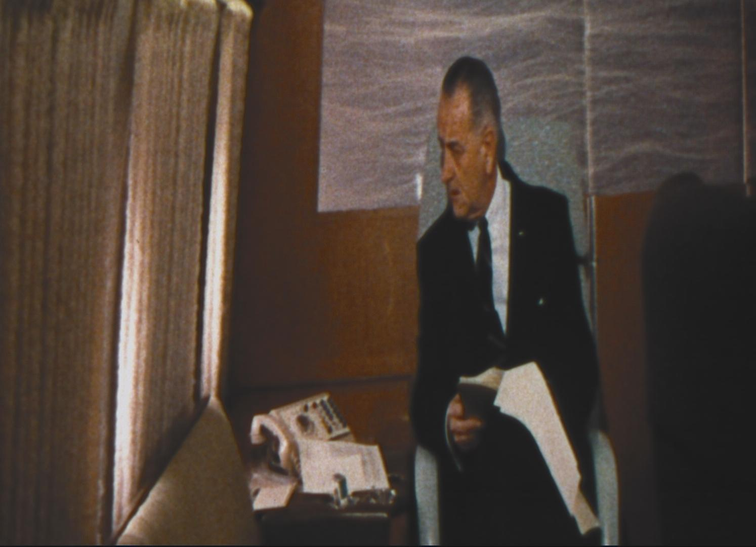 """Anamorphic still image from """"A President's Country"""""""