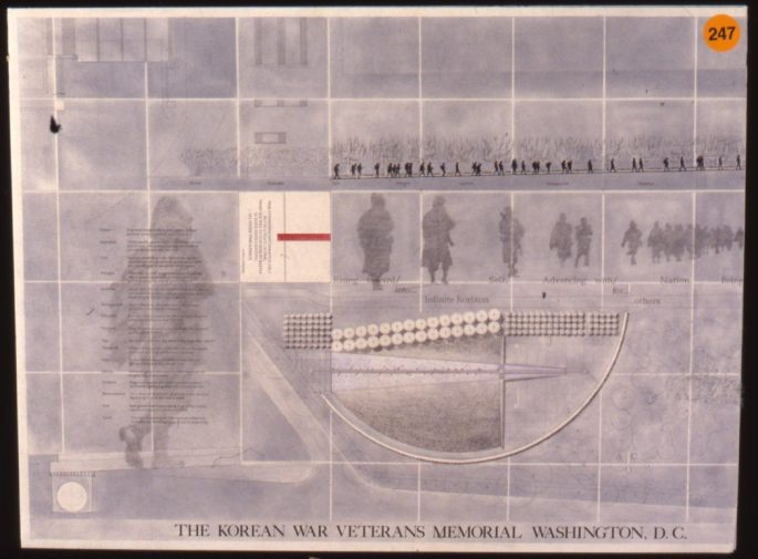 Slide 1 of the winning memorial deisgn