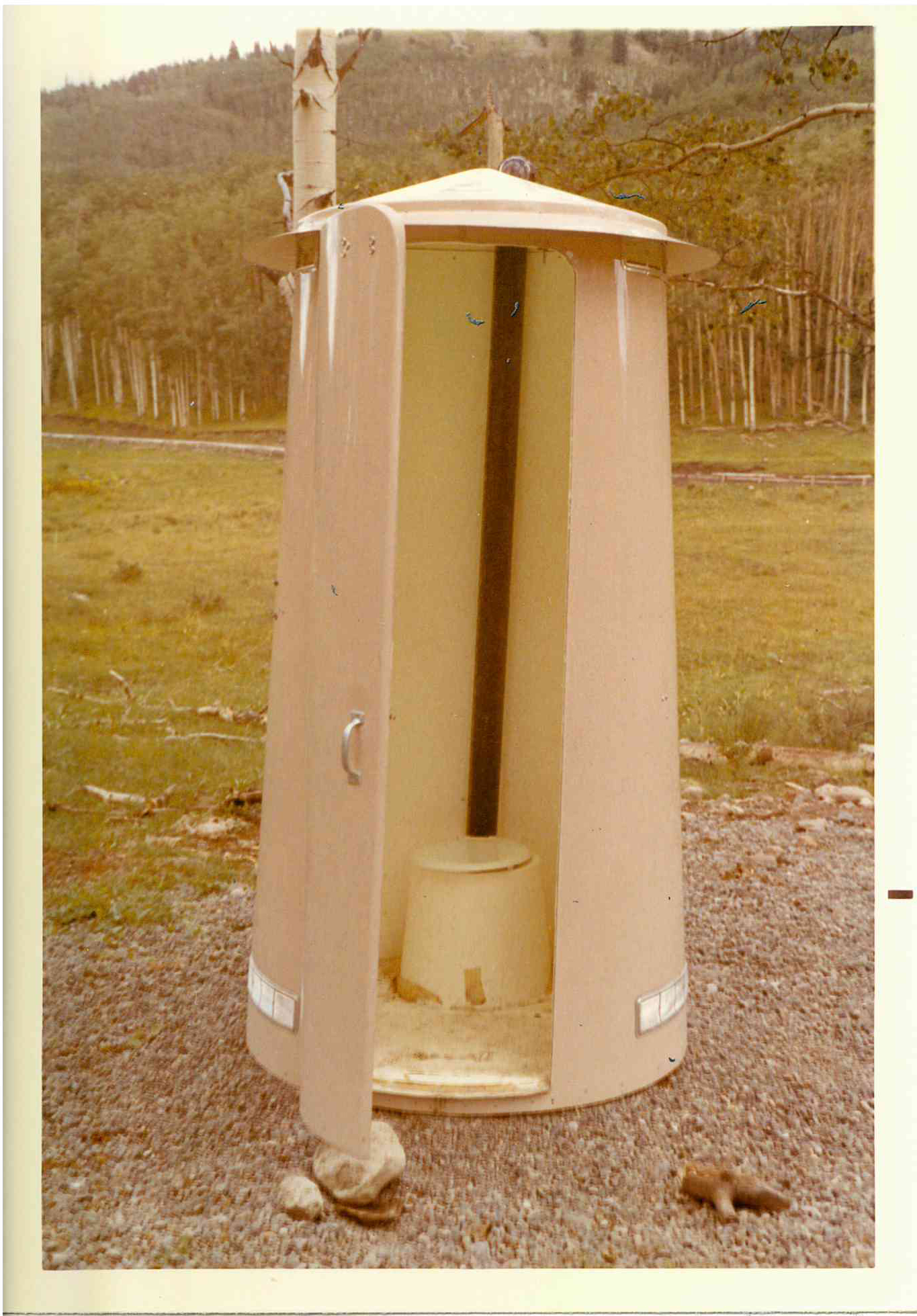Temporary Toilet from the Silverjack Resevoir located in the Grand Mesa / Uncompahgre / Gunnison National Forest.