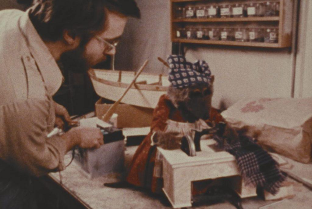Inside the Muppet workshop.