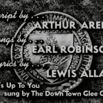 "Opening Credits for ""It's Up to You"" (208.50) showing writer, songwriter, lyricist, and vocals."