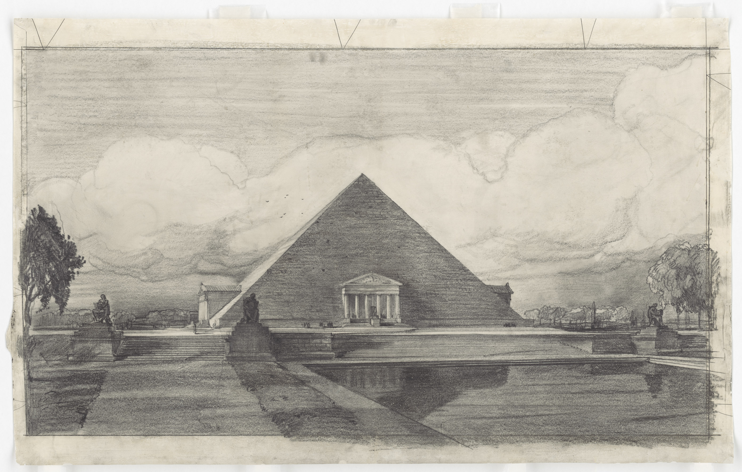 John Russell Pope's Competition Proposal for a Pyramid with Porticoes Style Monument to Abraham Lincoln