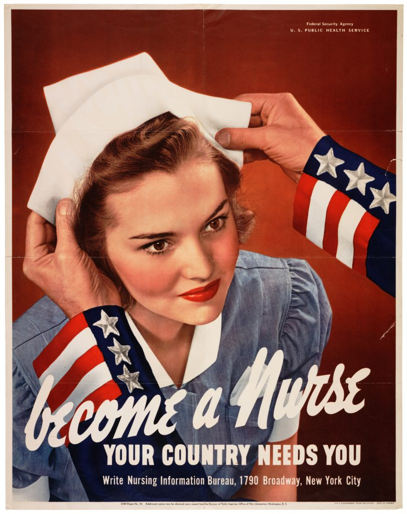 """""""Become a nurse - Your country needs you"""""""